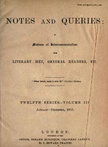Notes and Queries - Series 12 - Volume 3.djvu