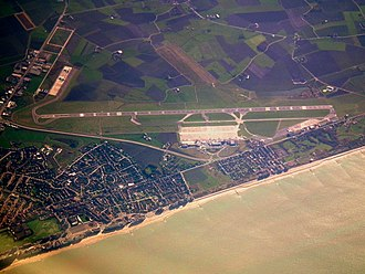 Ostend–Bruges International Airport - Image: OSTEND AIRPORT EBOS FROM A RYANAIR BOEING 737 800 EIDYX AT 32000 NOV 2011 (6333897725)