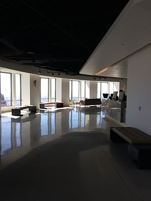 U.S. Bank Tower (Los Angeles) - Interior of the OUE Skyspace on the seventy-first floor of the U.S. Bank Tower looking northwest.