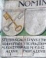 Obernzell Schloss - Festsaal Wappen Papst 1.jpg