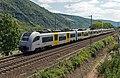 Oberwesel Mittelrhein Bahn 460 011-460 016 Mainz-Köln-Messe Deutz (14176542291).jpg