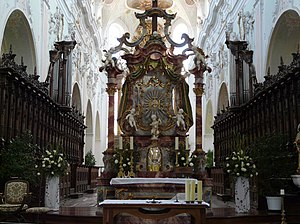 Ochsenhausen Abbey - Image: Ochsenhausen klosterkirche 003 altar of the cross