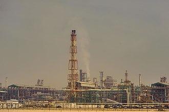 Energy in Qatar - Petrochemical plant in Mesaieed Industrial Area.
