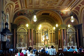 Old St. Mary's Church (Cincinnati, Ohio) - A Mass being celebrated at the church.