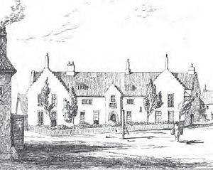 Gresham's School - Gresham's School, sketched in 1838