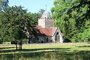 Albury, Surrey - Image: Old St Peter and St Paul's Church, Albury
