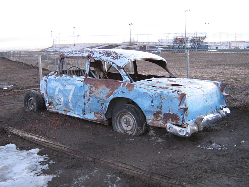 File:Old demolition derby racer - 1955 Chevrolet 150 (2321024737).jpg