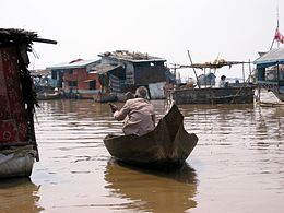 A boat on the Tonle Sap