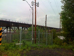 Oliver Bridge - The Wisconsin side of the Oliver Bridge