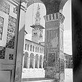 Omayaden moskee, de noordzijde van het voorplein met een minaret, Bestanddeelnr 255-5900.jpg
