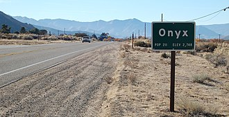 California State Route 178 - Image: Onyx California sign along State Route 178