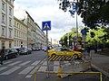 Opletalova, přechod a stanoviště taxi Modrý anděl.jpg