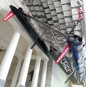 America's Cup World Series - Image: Oracle AC45 hulls (bottom view)