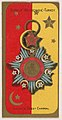 Order of Medschidie, Turkey, from the Military Series (N224) issued by Kinney Tobacco Company to promote Sweet Caporal Cigarettes MET DPB874391.jpg