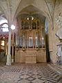 Orgue réfectoire des moines Abbaye de Royaumont.JPG