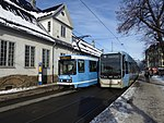 Oslo tram line 19 and 18 at St Halvards plass.jpg