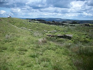 Moorland - Oswaldtwistle Moor, part of the West Pennine Moors, in Lancashire, UK
