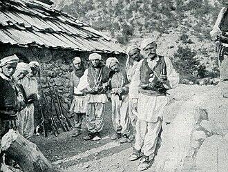 Kelmendi (tribe) - A group of Kelmendi men, 1912.