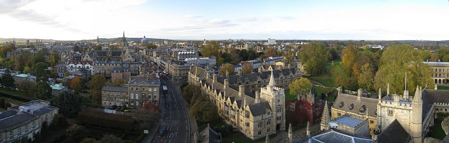 Oxford from Magdalen College, looking west up the High Street