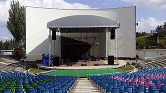 Košice-Sever - Image: Pódium zo strechou
