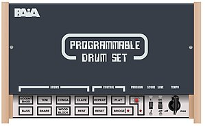 PAiA Electronics - PAiA Programmable Drum Set (1975),  one of the earliest programmable drum machine.