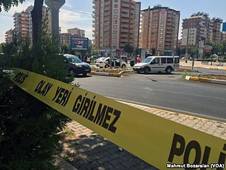Controversies during the Turkish general election, November 2015 - Aftermath of a PKK terrorist attack in Diyarbakır in August 2015