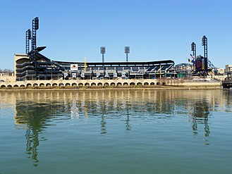 PNC Park - A view of PNC Park from Downtown Pittsburgh across the Allegheny River