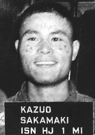Kazuo Sakamaki - Sakamaki in US custody
