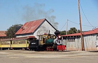 Santa Margarita, California - The narrow-gauge steam train is a popular attraction at the historic Santa Margarita Ranch