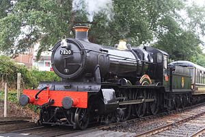 GWR 7800 Class 7820 Dinmore Manor - 7820 Dinmore Manor on the Dartmouth Steam Railway in 2016