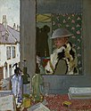 Painted shortly after his arrival in France, Orpen is inspecting himself in the mirror wearing his military uniform. In a wonderfully revealing self-portrait, he sets out an artistic agenda of colour, pattern, Art.IWMART2380.jpg