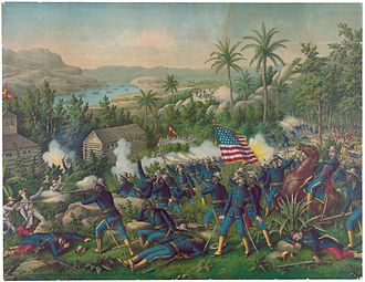 Battle of Las Guasimas - Image: Painting of the Battle of Las Guasimas