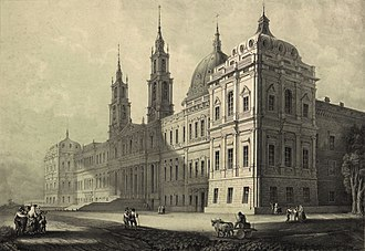 Palace of Mafra - The Palace in 1853.