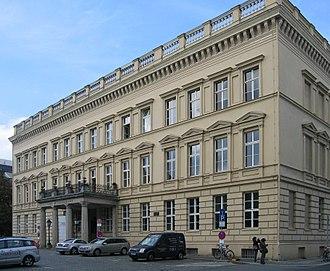 Heinrich Friedrich Karl vom und zum Stein - The Donnersches Palais (today Palais am Festungsgraben), Stein's residence as a Prussian Minister