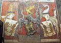 Palazzo comunale di s. miniato, sala delle sette virtù, stemma della stufa.JPG