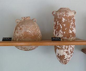 Levantine pottery - Palestinian amphorae in Bodrum Castle, Turkey
