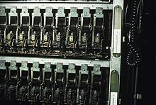 An array of stepping switches