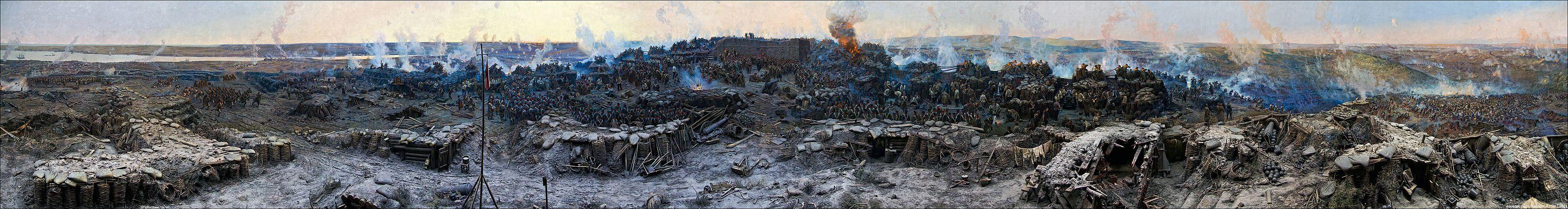 Франц Алексеевич Рубо , полотно на Панораме «Оборона Севастополя» (1854–1855)»