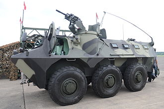 Pindad - Pindad Anoa on display. Its AGL mount is publicly seen.