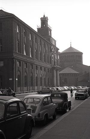 Giovanni Muzio - Università Cattolica del Sacro Cuore, Largo Gemelli, Milan (1927-1934). Photo by Paolo Monti, 1963
