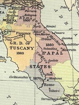 Papal States Map 1870