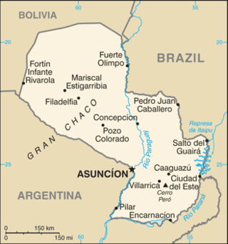 Map of the Paraguay