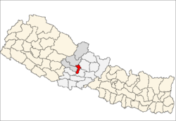 map of Parbat, Nepal