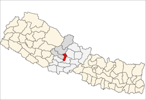 Parbat District i Dhawalagiri Zone (grå) i Western Development Region (grå + lysegrå)