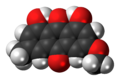 Parietin molecule spacefill.png