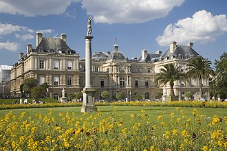 Luxembourg Palace - Luxembourg Palace garden façade
