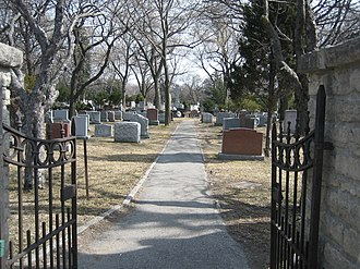 Park Lawn Cemetery - Northwest entrance to Park Lawn Cemetery.