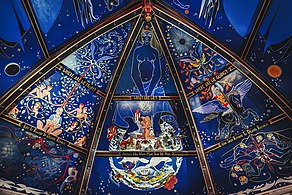 Part of Alasdair Gray's ceiling mural in the Oran Mor in Glasgow.jpg