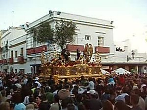 Paso de misterio de El Olivo, Miércoles Santo, El Puerto
