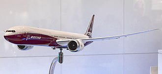 Boeing 777X - Model presented in April 2018